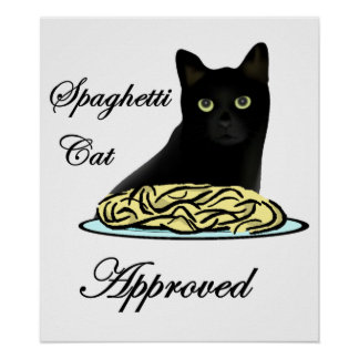 Spaghetti Cat Approved Poster