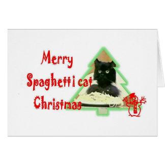 Spaghetti cat Christmas Card