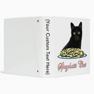 Spaghetti Cat Eloquence 3 Ring Binder