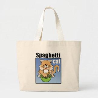 Spaghetti Cat Frenzy Canvas Bags