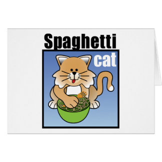 Spaghetti Cat Frenzy Greeting Card