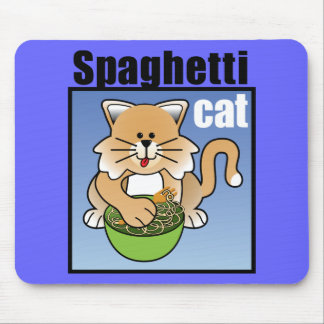 Spaghetti Cat Frenzy Mouse Pad