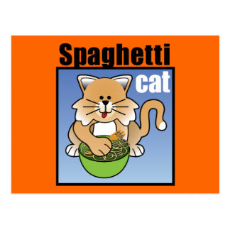 Spaghetti Cat Frenzy Post Cards