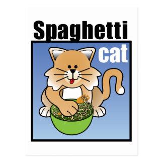 Spaghetti Cat Frenzy Postcard