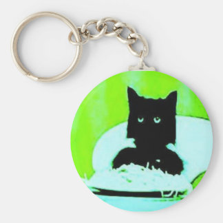 spaghetti cat  Keychain