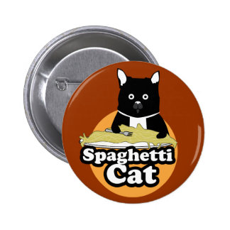 Spaghetti Cat Pinback Button