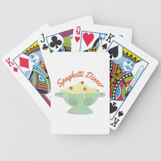 Spaghetti Dinner Bicycle Playing Cards