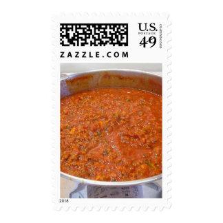 Spaghetti Dinner Cooking Food Italian Sauce Postage Stamp