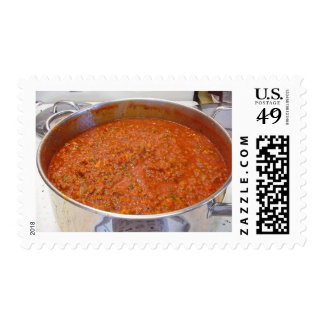 Spaghetti Dinner Cooking Food Italian Sauce Stamps