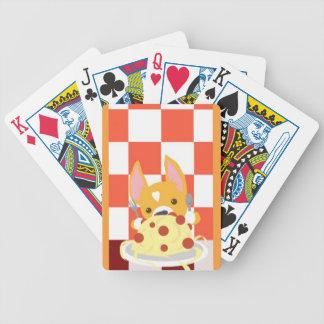 Spaghetti Dinner Corgi Bicycle Playing Cards