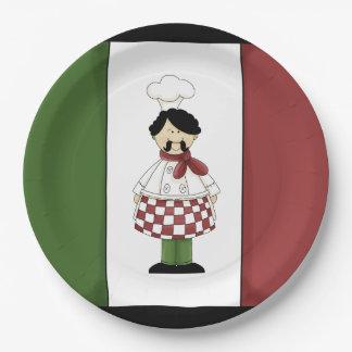 Spaghetti dinner Italian chef paper plates 9 Inch Paper Plate