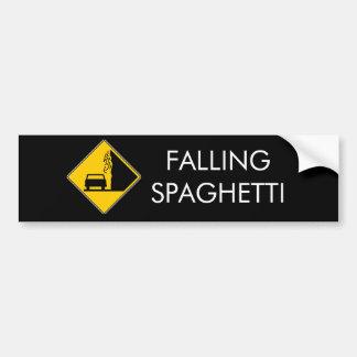 Spaghetti Falls Out Car Bumper Sticker