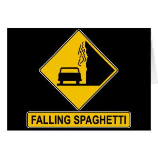 Spaghetti Falls Out Greeting Card