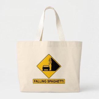 Spaghetti Falls Out Large Tote Bag