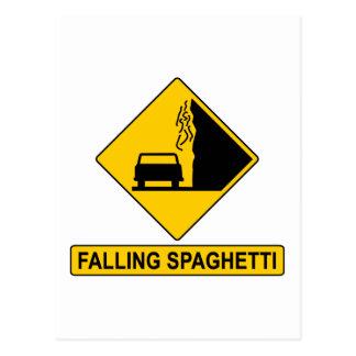Spaghetti Falls Out Postcard