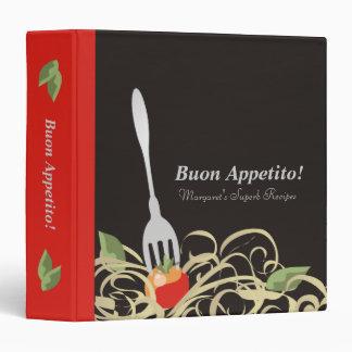 spaghetti fork tomato recipe cookbook binder
