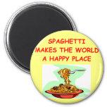 spaghetti fridge magnet