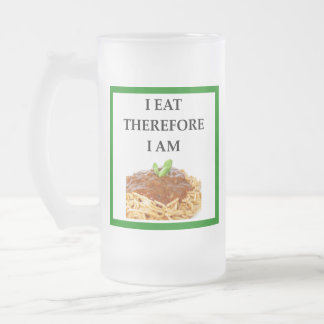 spaghetti frosted glass beer mug