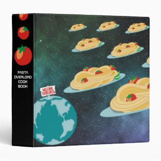 spaghetti invaders Italian food personal cookbook 3 Ring Binder