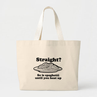 Spaghetti is Gay Tote Bags