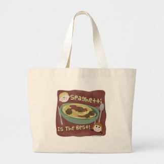 Spaghetti is the Best! Large Tote Bag