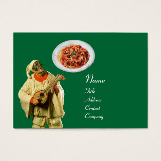SPAGHETTI & MANDOLIN ITALIAN KITCHEN,black green Business Card