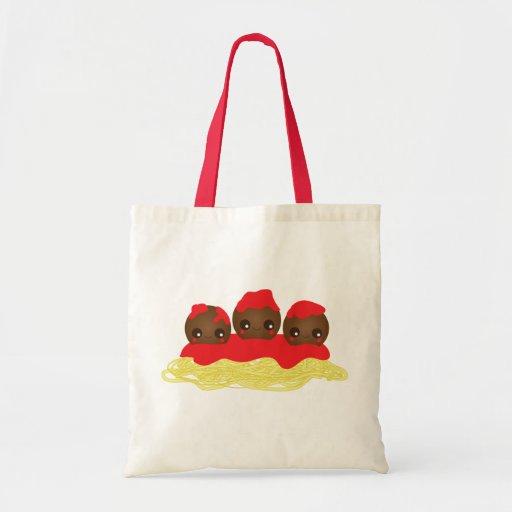 Spaghetti & Meatballs Canvas Bag