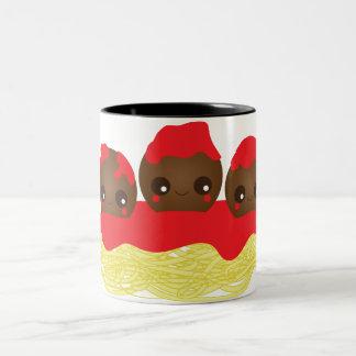 Spaghetti & Meatballs Two-Tone Coffee Mug