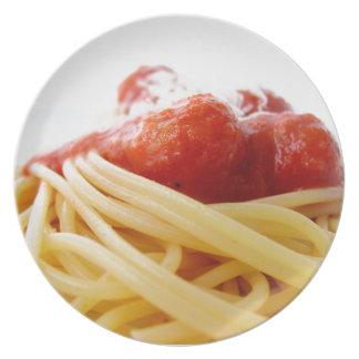 Spaghetti Melamine Plate