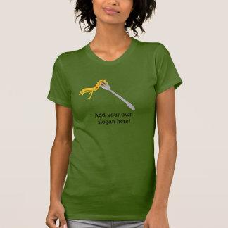 Spaghetti on Fork: Customizable Slogan T-Shirt