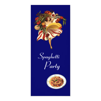 SPAGHETTI PARTY DANCE,ITALIAN KITCHEN AND TOMATOES CARD
