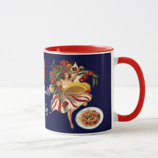 SPAGHETTI PARTY DANCE,ITALIAN KITCHEN AND TOMATOES MUG