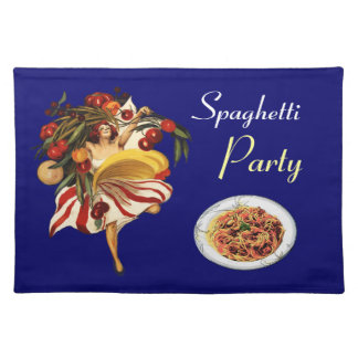 SPAGHETTI PARTY DANCE,ITALIAN KITCHEN AND TOMATOES PLACEMAT