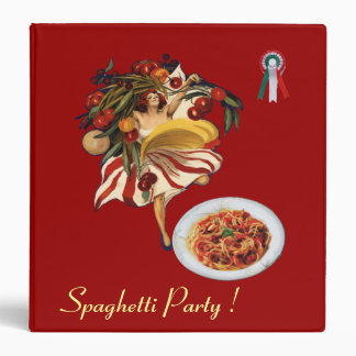 SPAGHETTI PARTY DANCE ITALIAN KITCHEN RECIPE BOOK BINDER