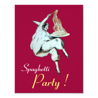SPAGHETTI PARTY,ITALIAN KITCHEN red dinner, brunch Card