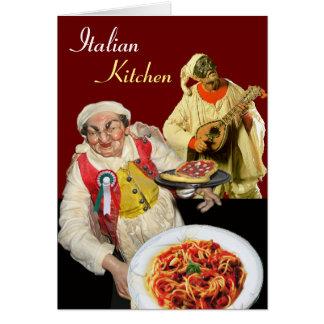 SPAGHETTI PARTY,Italian Kitchen Restaurant Chef Card
