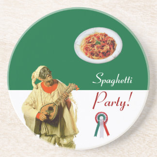 SPAGHETTI PARTY, ITALIAN KITCHEN ,RESTAURANT DRINK COASTER