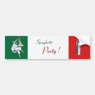 SPAGHETTI PARTY ITALIAN KITCHEN, RESTAURANT green Car Bumper Sticker