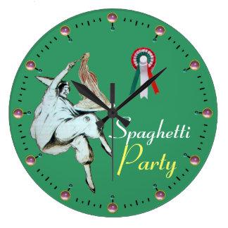 SPAGHETTI PARTY ITALIAN KITCHEN, RESTAURANT LARGE CLOCK