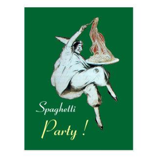 SPAGHETTI PARTY ITALIAN KITCHEN, RESTAURANT Recipe Postcard