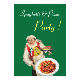 SPAGHETTI & PIZZA PARTY , RESTAURANT black green Card