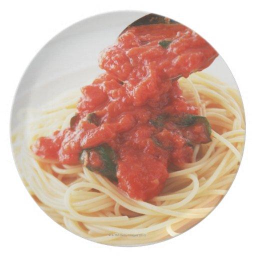 Spaghetti Pomodoro Dinner Plates