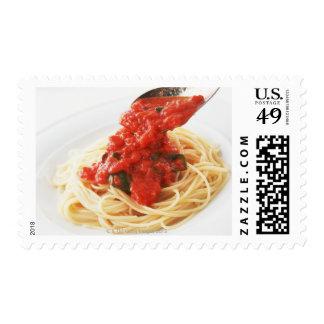 Spaghetti Pomodoro Postage Stamp