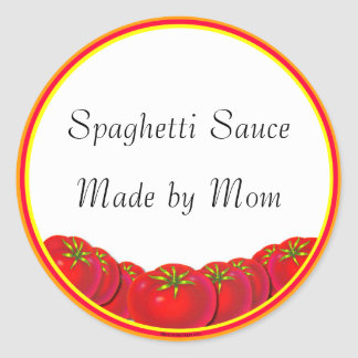 Spaghetti Sauce Custom Canning Labels
