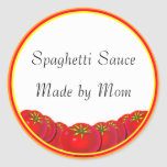 Spaghetti Sauce Custom Canning Labels Stickers
