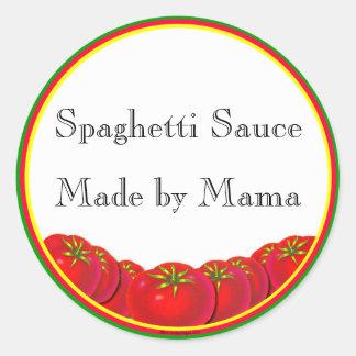 Spaghetti Sauce Customizable Canning Label Sticker