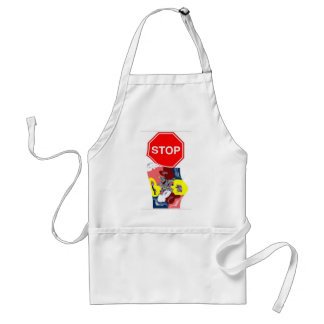 Spaghetti Stop Sign Adult Apron