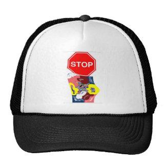 Spaghetti Stop Sign Trucker Hat