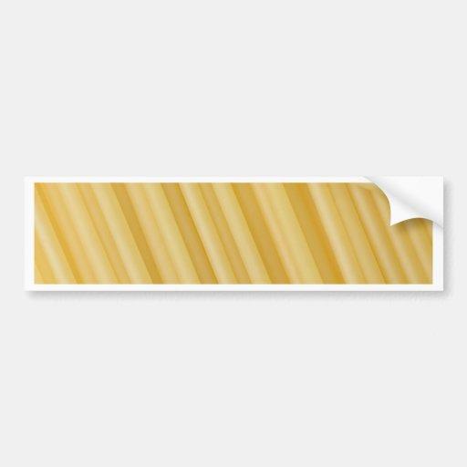 Spaghetti texture bumper sticker