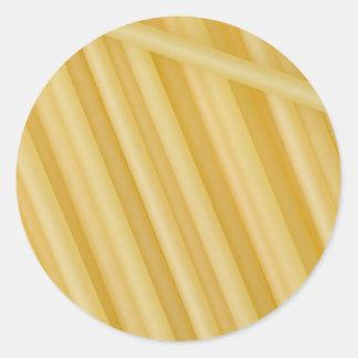 Spaghetti texture classic round sticker